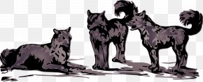 Wolf - Dog T-shirt Wolf In The Snow Bib Black Wolf PNG