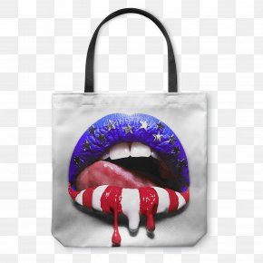 United States - Flag Of The United States Lip Independence Day PNG