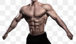 Open Arms Showing Muscle Man - Muscle Bodybuilding Download PNG