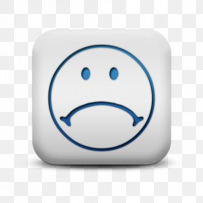 Blue Sad Smileys - Face Smiley Sadness Icon PNG