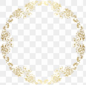 Round Floral Shadows French Border Pictures - Picture Frame Gold Clip Art PNG