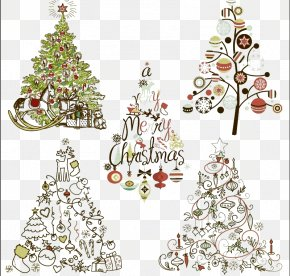 Elegant Christmas Tree Icon - Santa Claus Christmas Tree Christmas Ornament Clip Art PNG