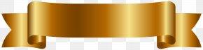 Golden Banner Cliparts - Web Banner Ribbon Clip Art PNG