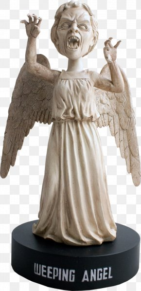 Doctor Head - Statue Doctor Weeping Angel Bobblehead Figurine PNG