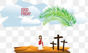 Vector Jesus - Calvary Christian Cross Crucifixion Of Jesus Illustration PNG