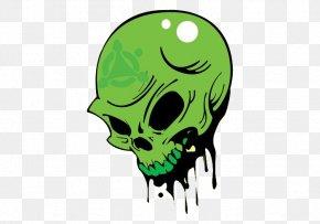 Green Skull - Human Skull Symbolism Drawing PNG
