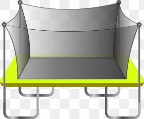 Trampoline With Protective Net - Table Chair Yellow PNG