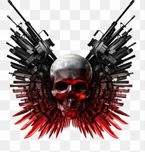 Skull - The Expendables Action Film YouTube PNG