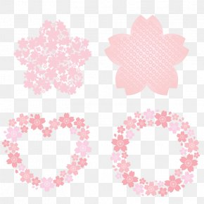 Flower - Circle Flower Download Cherry Blossom PNG