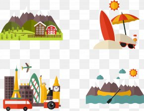 Vector Hand-painted Outdoor Travel - Vacation Icon PNG