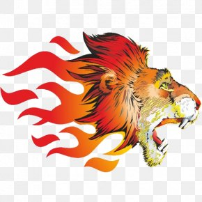 Burning Tiger - Lion Tiger Sticker Flame PNG