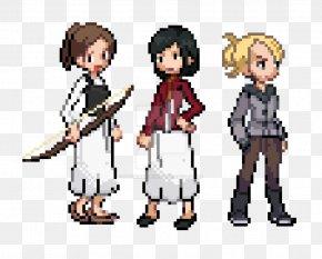 Pixel Art Pokemon Rayquaza - Mikasa Ackerman Sasha Braus Eren Yeager Pixel Art PNG