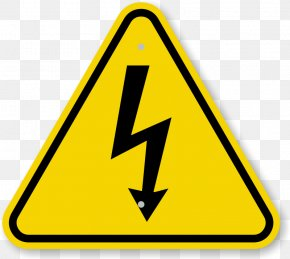 Caution Triangle Symbol - High Voltage Hazard Symbol Sign PNG