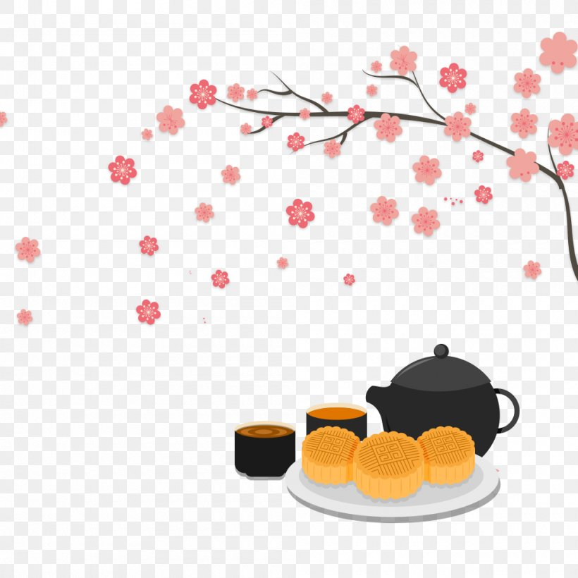 Mooncake Mid-Autumn Festival Poster Teapot, PNG, 1000x1000px, Mooncake, Banner, Chinoiserie, Festival, Heart Download Free
