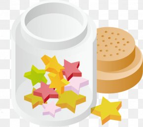 Vector Bottle Stars PNG