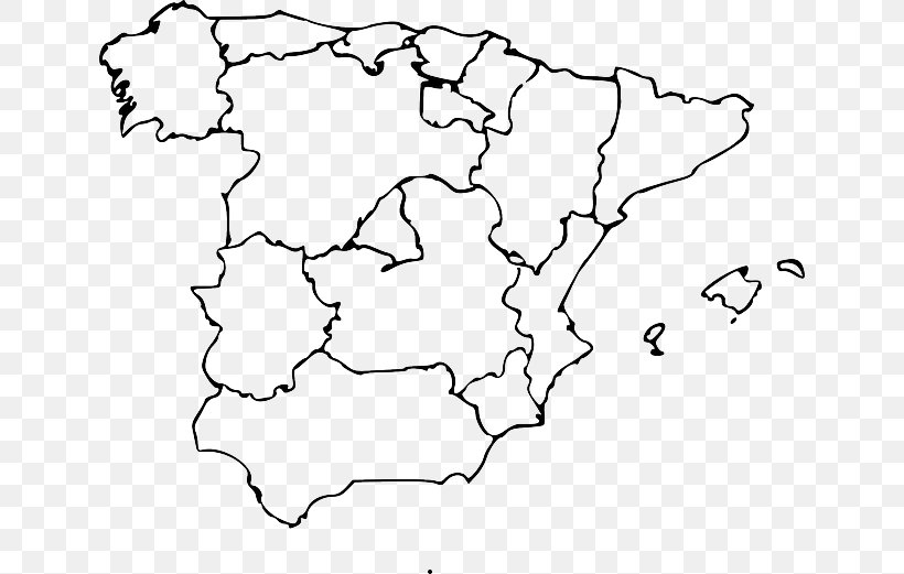 Map Of Spain Blank.Autonomous Communities Of Spain Blank Map World Map Png