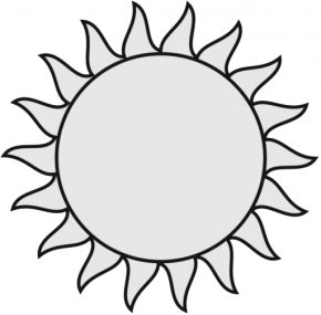 Sun Black And White - Black And White Clip Art PNG