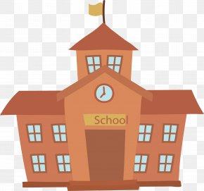 School Building - School Cartoon Building PNG