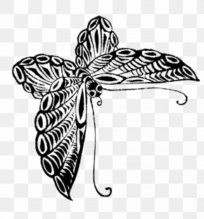 Drawing Butterfly - Butterfly Drawing Black And White Visual Arts Sketch PNG