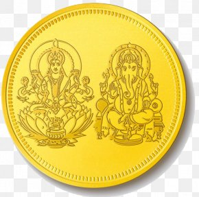Lakshmi Gold Coin Pic - Gold Coin Lakshmi PNG