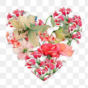 Flower - Drawing Flower Heart Image PNG