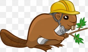 Cute Beaver Cliparts - Beaver Cartoon Royalty-free Clip Art PNG