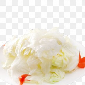 A Dish Of Cabbage - Ice Cream Pickled Cucumber Dish Cabbage Vegetable PNG