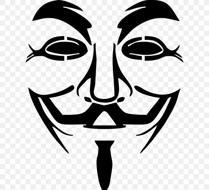 Anonymous Guy Fawkes Mask Clip Art, PNG, 620x742px, Anonymous, Anonymity, Art, Artwork, Black And White Download Free