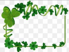 Easter Frame - Saint Patrick's Day Irish People Shamrock Wedding Clip Art PNG