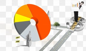 Pie Charts And Business Man - Pie Chart Business Symbol PNG