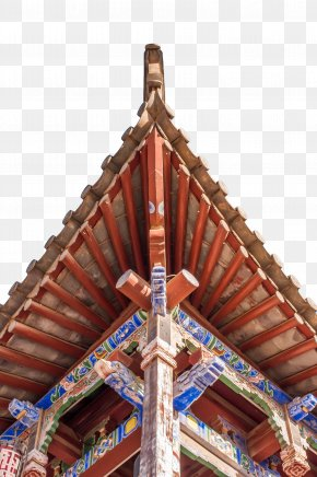 Red Symmetry Carved Eaves Angle - Roof Eaves Wall PNG