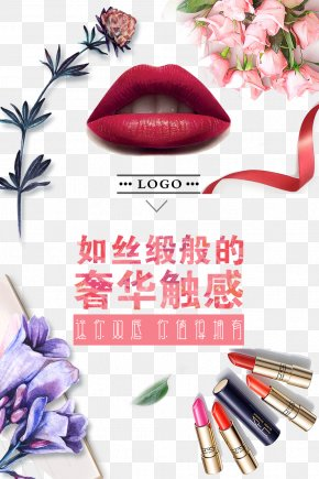 Lipstick Poster Design Background Template - Poster Lipstick Graphic Design PNG