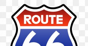 Route - Santa Monica U.S. Route 66 Route 66 Restaurant Equipment Logo Highway PNG