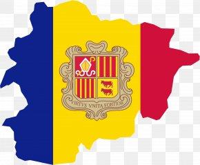 Flag - Flag Of Andorra Parishes Of Andorra Map National Flag PNG