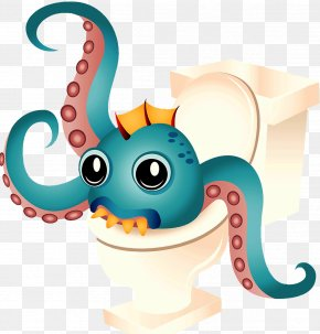 Octopus Monster - Octopus Monster Clip Art PNG