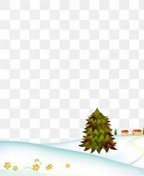 Christmas Snow Christmas Tree Material - Christmas Tree Snow PNG