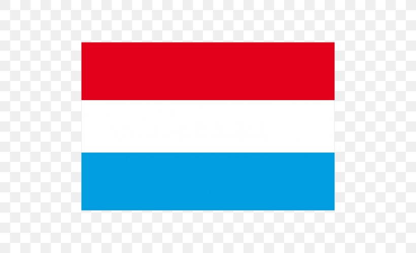 Flag Of Luxembourg Aqua Rectangle, PNG, 500x500px, Luxembourg, Aqua, Area, Blue, Brand Download Free