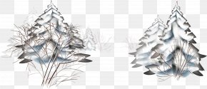 Thick Snow Snow Trees Vector - Landscape Winter Snow Clip Art PNG