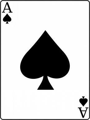 Ace Of Spades - War Ace Of Spades Playing Card PNG