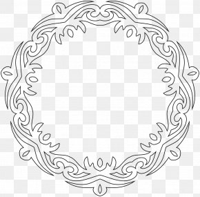 Сroissant - Line Art Borders And Frames PNG