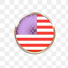 Oval Magenta - American Flag Background PNG