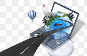 Global Business - Laptop Macintosh Computer Icon PNG