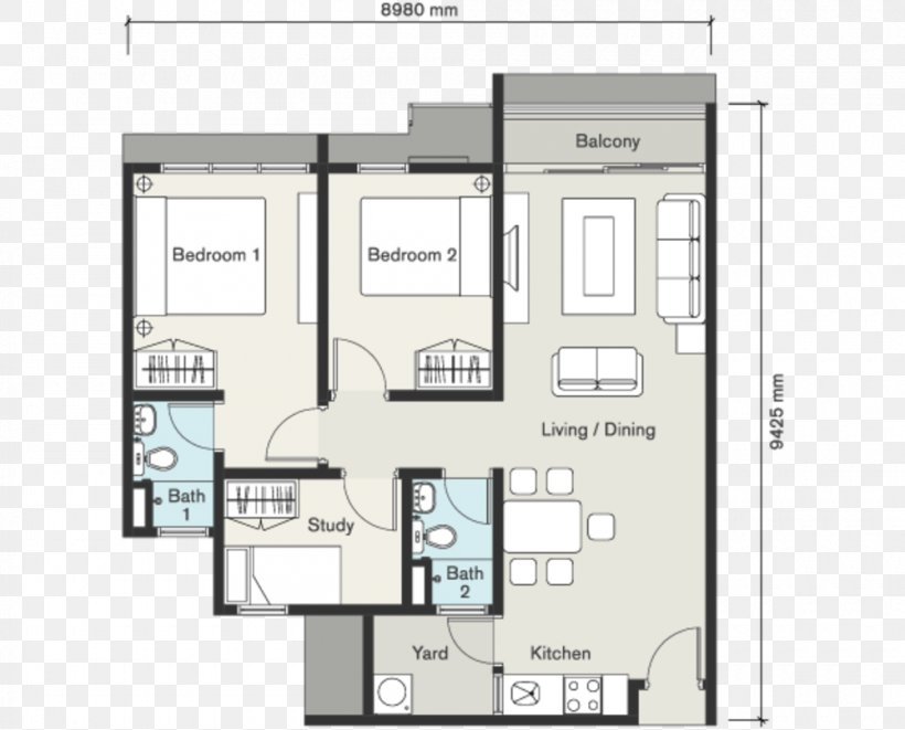 Seasons Garden Residence Wangsa Maju Floor Plan House, PNG, 1000x807px, Wangsa Maju, Area, Bedroom, Diagram, Elevation Download Free