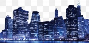 Night City Landscape Background - Metropolis Skyscraper Skyline Cityscape Landscape PNG