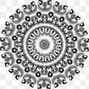 Abstract Design - Black And White Floral Design Clip Art PNG