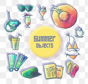 Summer Fun Summer Beach Vector Elements - Euclidean Vector PNG