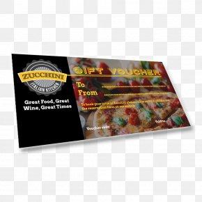 Gift - Gift Card Voucher Italian Cuisine Zucchini PNG