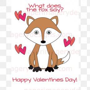 Valentine's Day - Red Fox Valentine's Day The Fox Clip Art PNG