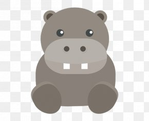 Cute Hippo - Icon PNG