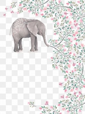 Painted Elephant - Watercolor Painting Art Clip Art PNG